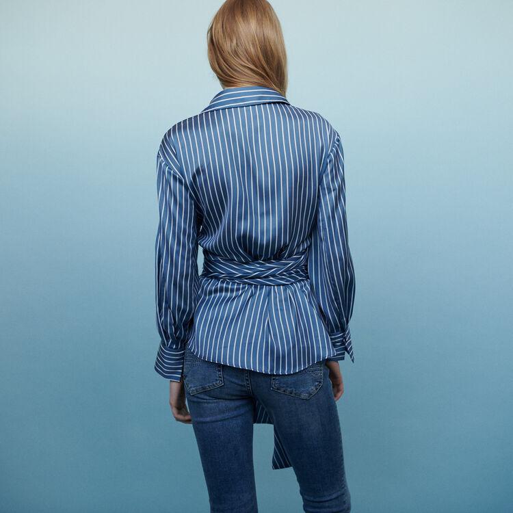 Chemise nouée à rayures : Tops & Chemises couleur Rayure