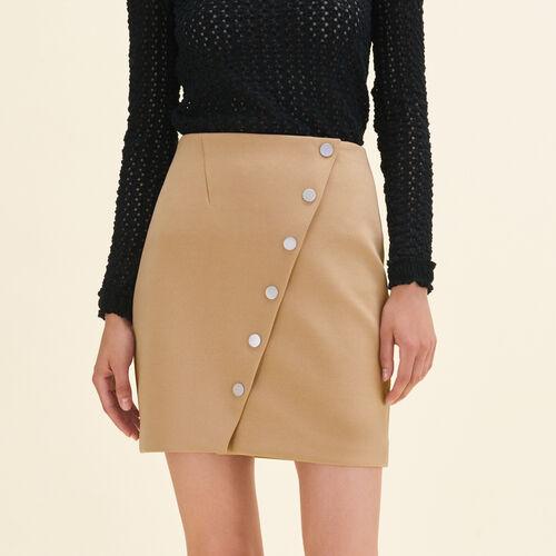 Jupe courte avec pression : Jupes & Shorts couleur Camel
