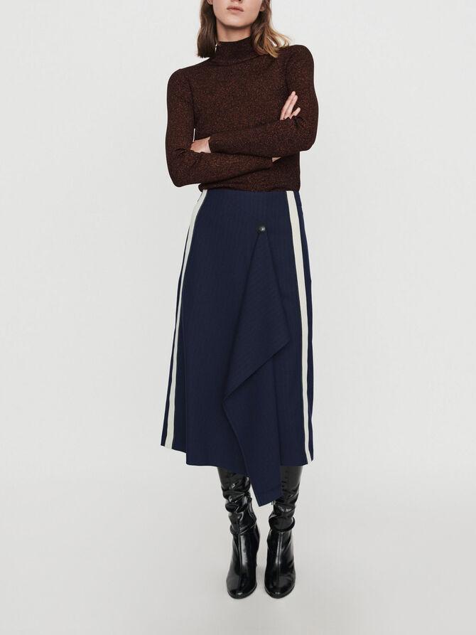 Skirt with racing stripes - Skirts & Shorts - MAJE
