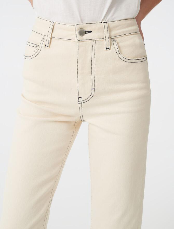 Jean droit surpiqué - Pantalons & Jeans - MAJE