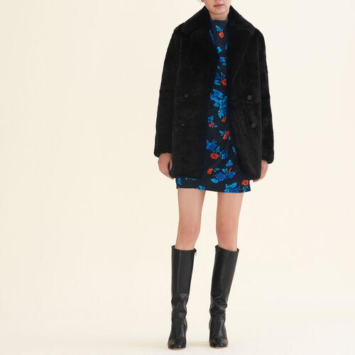 Manteau en lapin : Manteaux & Blousons couleur Beige
