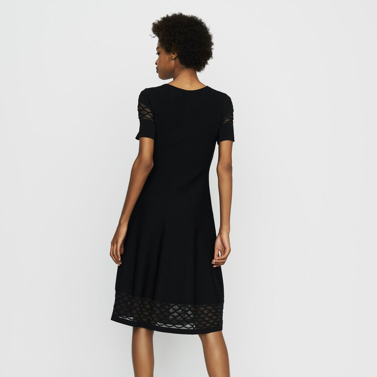 Robe en maille Stretch : Robes couleur Black