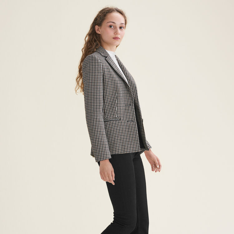 Veste de tailleur ajustée : Blousons & Vestes couleur Jacquard