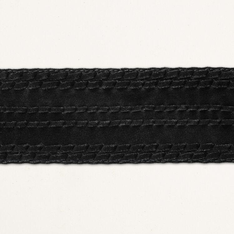 Ceinture taille haute en suède : Ceintures couleur BLACK