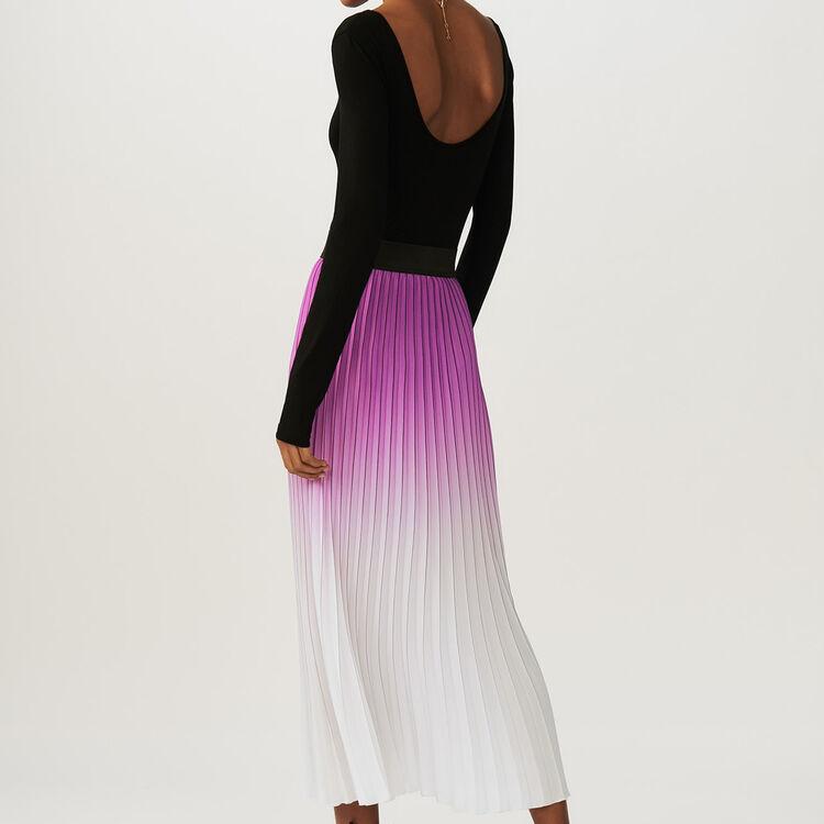 Jupe plissée tie and dye : Jupes & Shorts couleur Violet