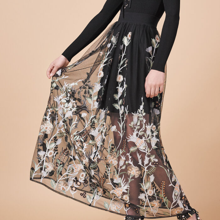 Long skirt with embroidery - See All - MAJE