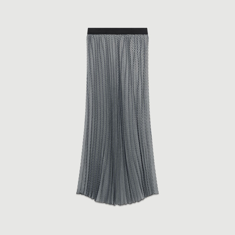 Jupe plissée à imprimé pied-de-poule : Jupes & Shorts couleur CARREAUX
