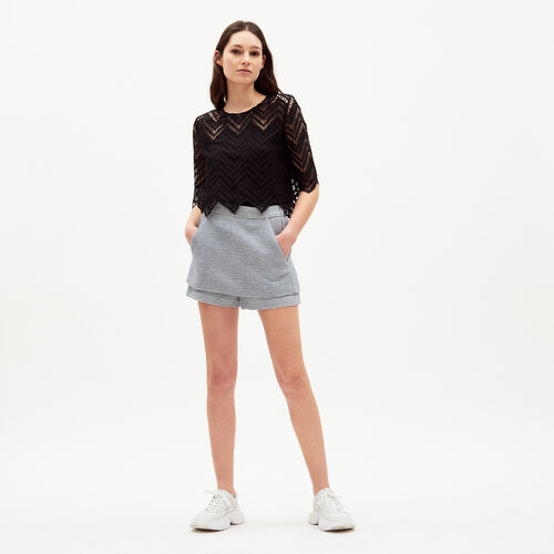 Jupe-short en jacquard : Jupes & Shorts couleur Jacquard