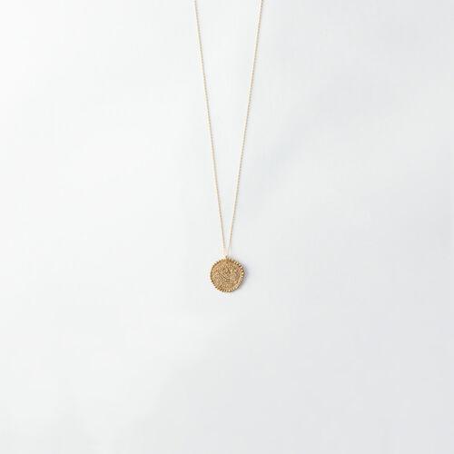 Gemini zodiac sign necklace : All accessories color Old Brass
