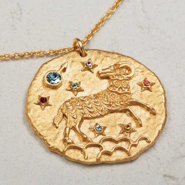 Collier Bélier signe du zodiaque : Bijoux couleur OR
