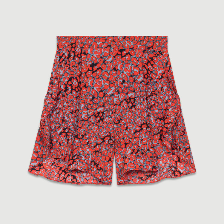 Short imprimé à volants : Jupes & Shorts couleur IMPRIME