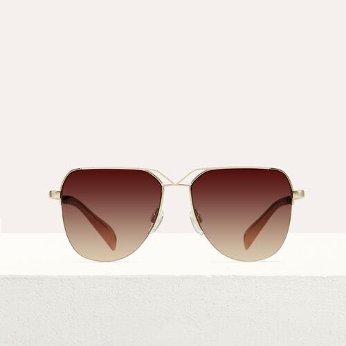 Aviator sunglasses : Eyewear color Burgundy