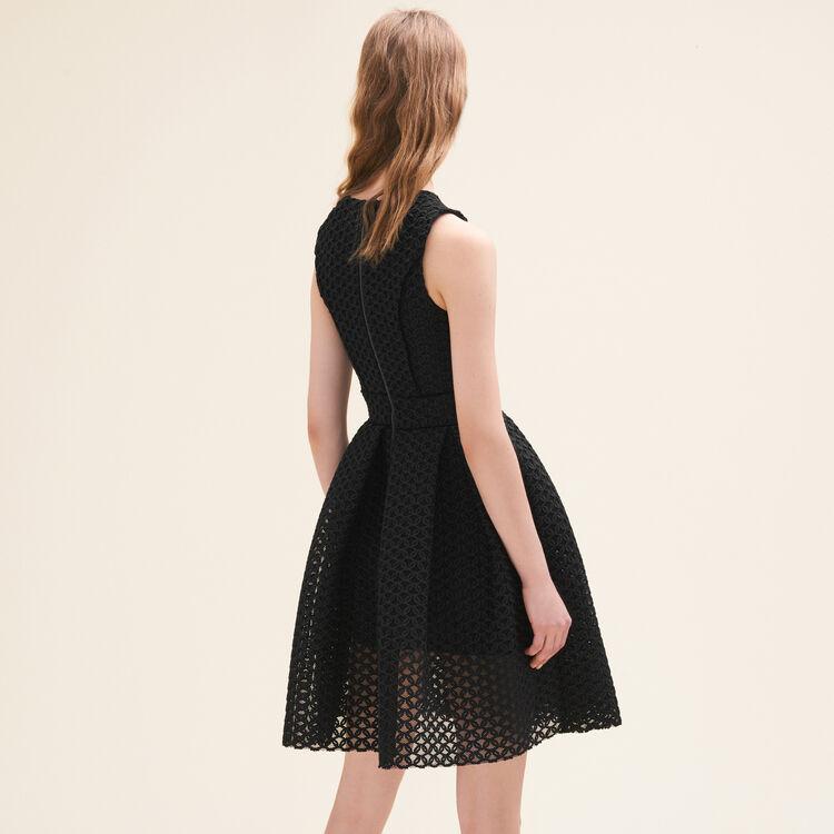 Robe sans manches en maille basket : Robes couleur Black
