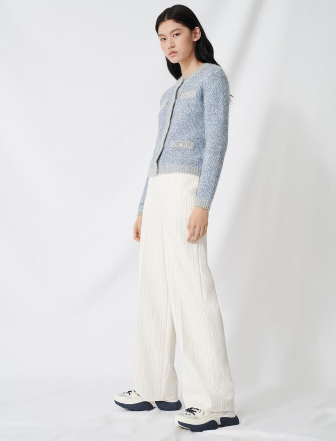 Palazzo trousers, contrasting waistband - All the collection - MAJE