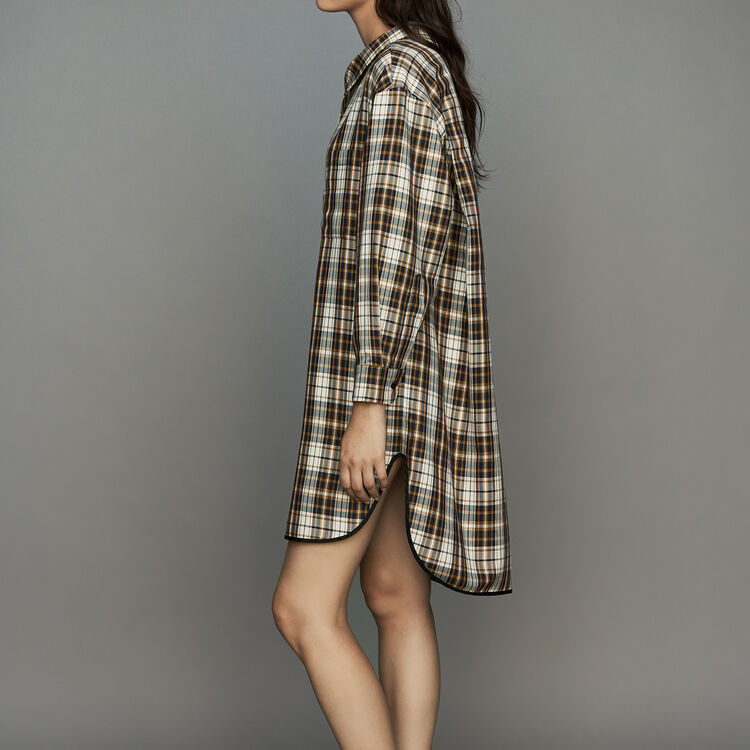 Robe-chemise à carreaux : Robes couleur CARREAUX