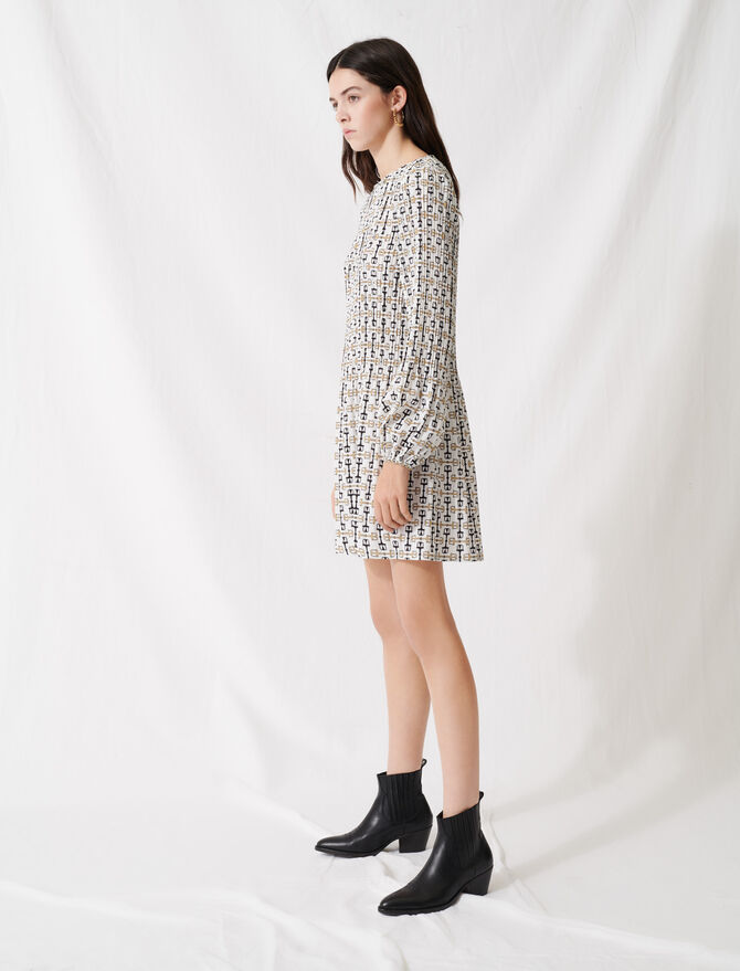 Robe courte plissée façon foulard - Robes - MAJE