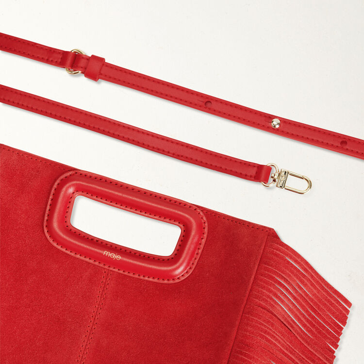 Suede M bag : M bag color Red