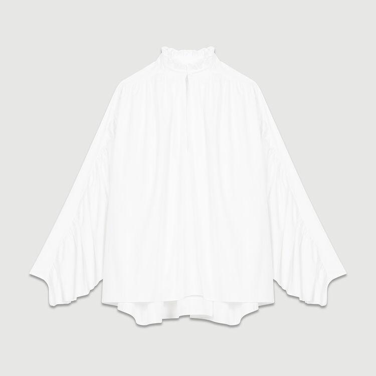 Blouse oversize avec fronces : Tops couleur Blanc