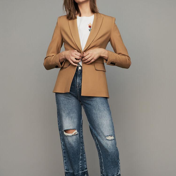 Veste passepoilée : Vestes couleur Camel