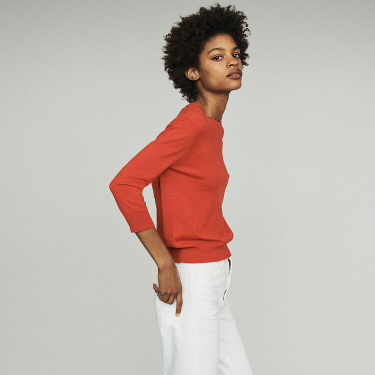 Pull col rond : Pulls & Cardigans couleur Rouge