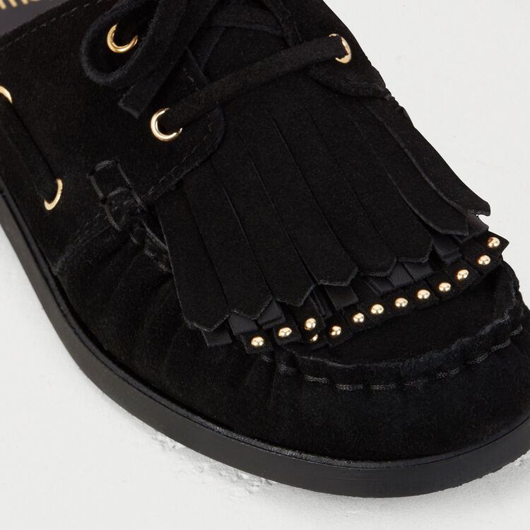 Float shoes in suede : Flat shoes color Black