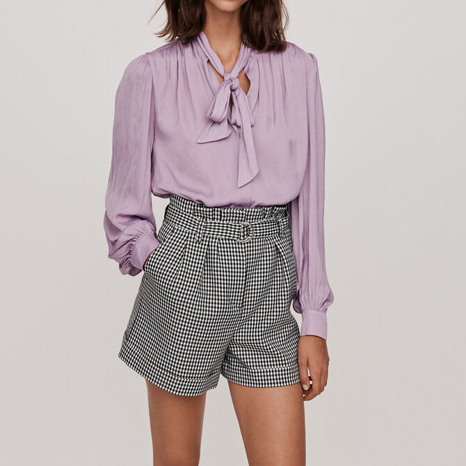 Belted houndstooth shorts - See all - MAJE
