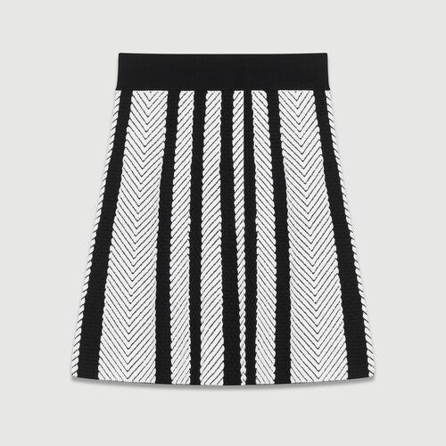Jupe trapèze en maille : Jupes & Shorts couleur MULTICO