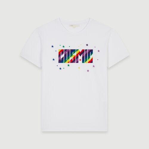 Tee-shirt brodé : Collection hiver couleur Noir