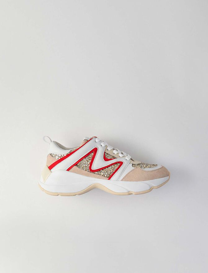 Sneakers W22 à paillettes -  - MAJE