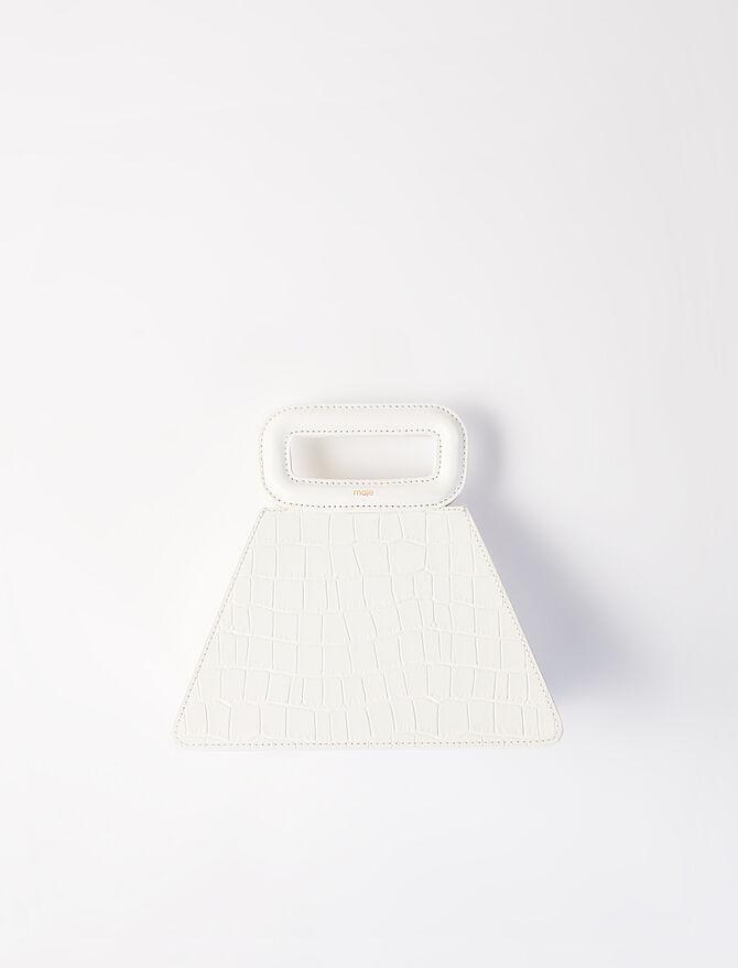 Sac pyramide en cuir effet croco -  - MAJE