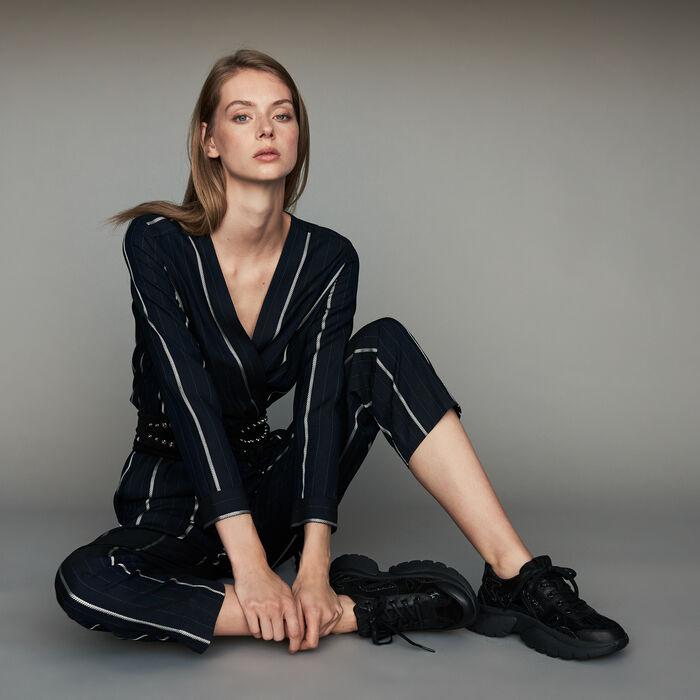 Combinaison-pantalon à rayures : Prêt-à-porter couleur Marine