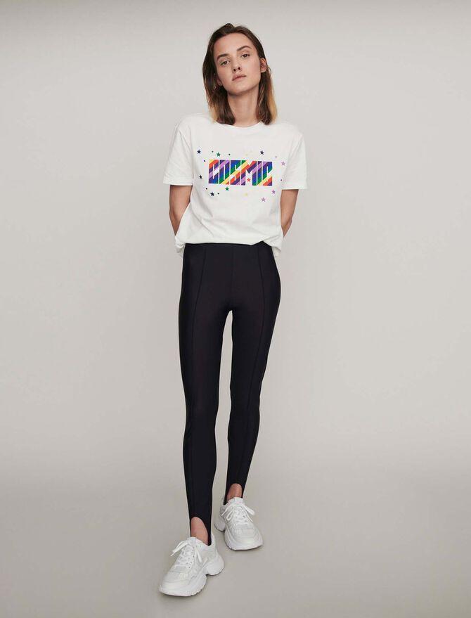 Stretch stirrup pants - Trousers - MAJE