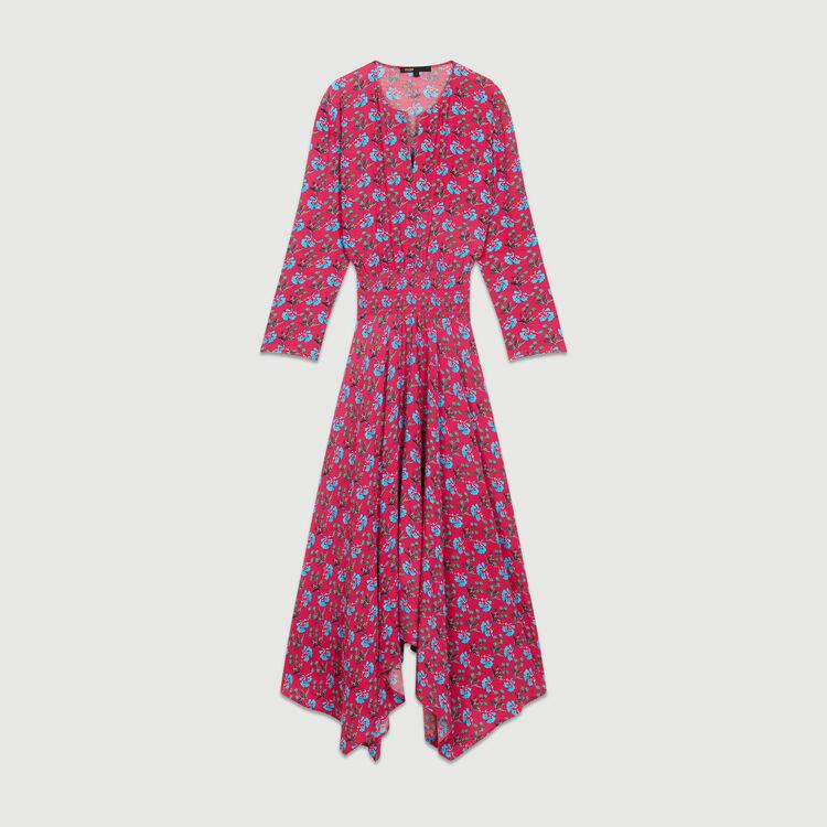 Robe longue imprimée : Robes couleur IMPRIME