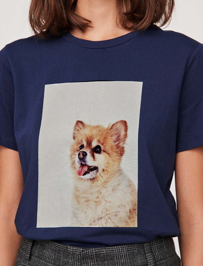 "Tee-shirt avec impression ""chien"" -  - MAJE"