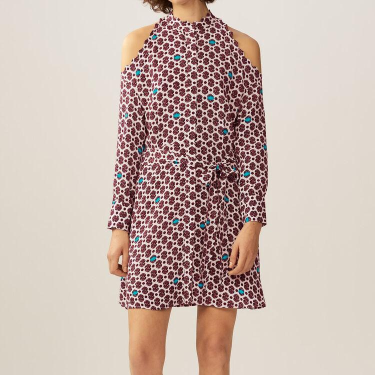 Robe imprimée avec épaules dénudées : Robes couleur IMPRIME