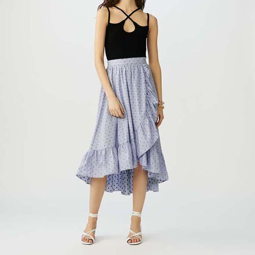 Long striped skirt with ruffles : See all color Stripe
