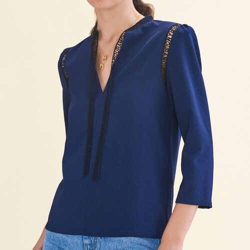 Blouse with braid trim : Best Sellers color Night