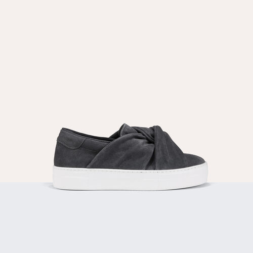 Suede trainers with bow : Accessoires color Grey