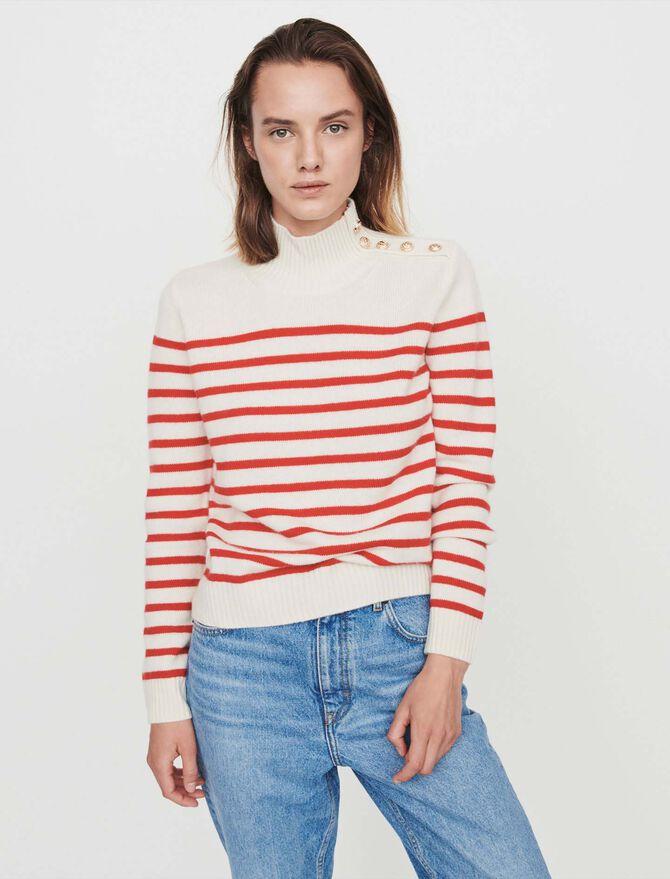 Cashmere sailor-style sweater -  - MAJE