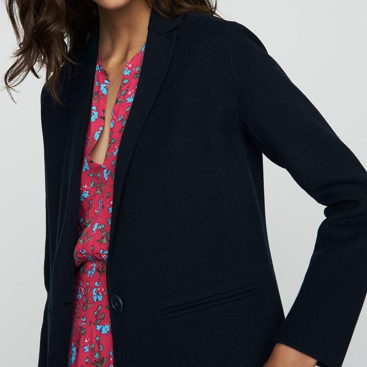 Manteau long en laine double face : Prêt-à-porter couleur VERT