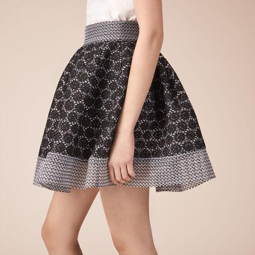Basket lace skater skirt - Skirts & Shorts - MAJE
