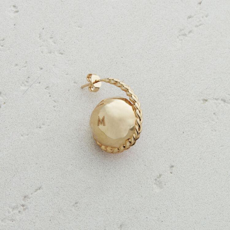 Boucle d'oreille gauche en pierre : Bijoux couleur OLD SILVER