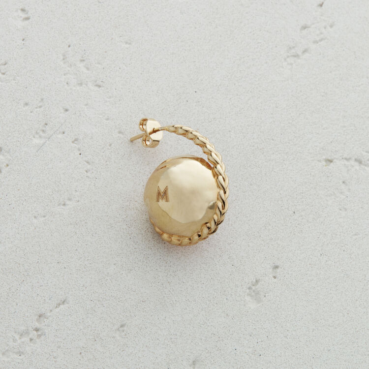 Left earring with natural stone : Jewelry color Pale Pink