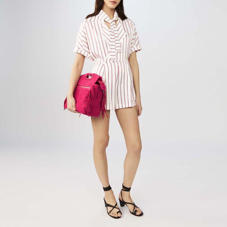 Combi-short fluide à rayures : Jupes & Shorts couleur Rayure