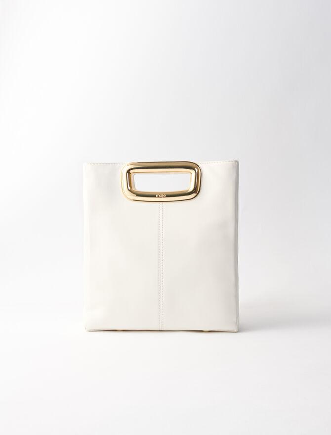 Suede and goldtone metal M Skin bag -  - MAJE