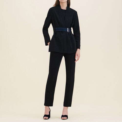 Crêpe kimono jacket : Blazers & Jackets color Black 210