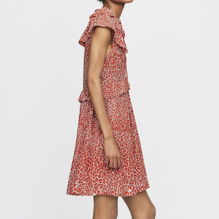 Robe sans manches à imprimé léopard : Robes couleur IMPRIME