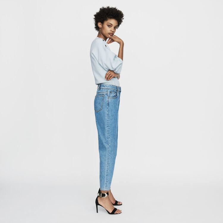 Jean large en denim délavé : Jeans couleur Denim