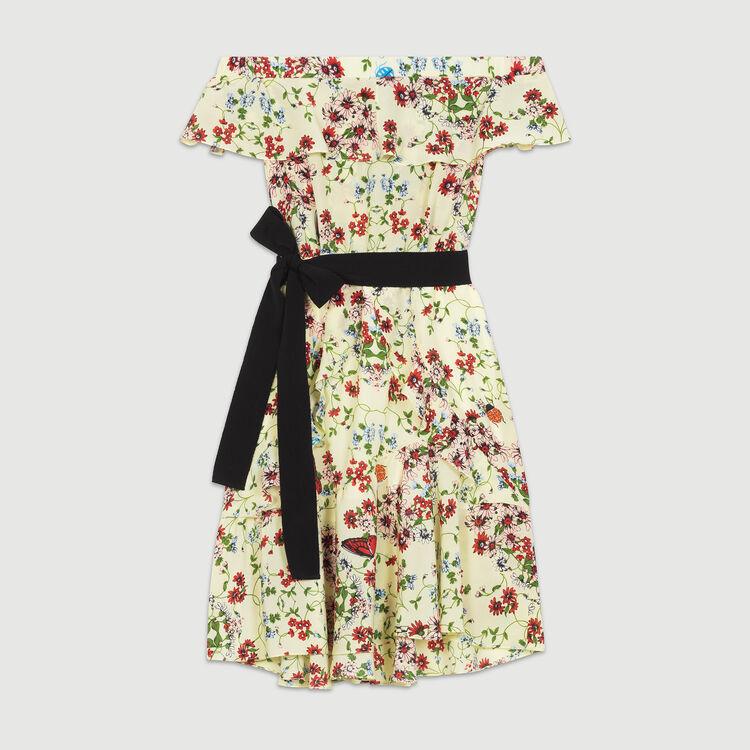 Robe en soie imprimée : Robes couleur IMPRIME