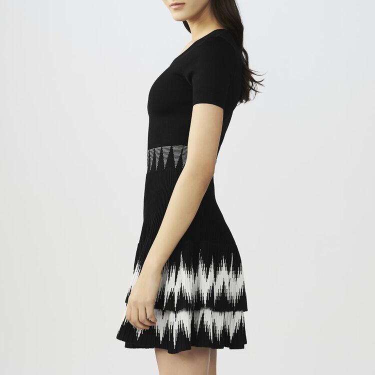 Robe en maille volantée : Robes couleur Black